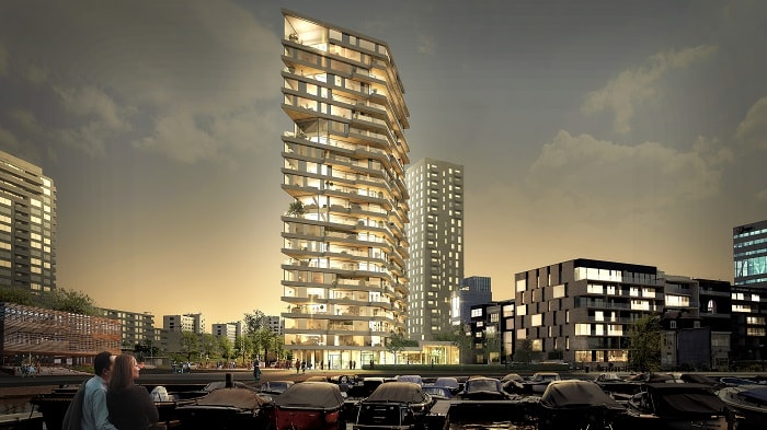 Timber Tower - Green Building in Amsterdam - Team V Architecture