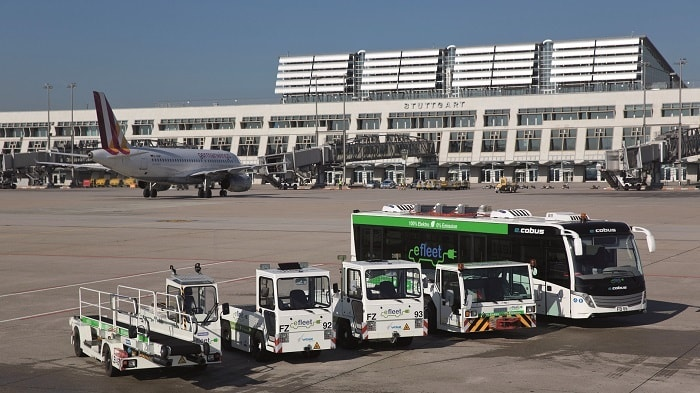 Electric Airport Vehicles for eco-friendly transportation on the Apron - eco urban transport
