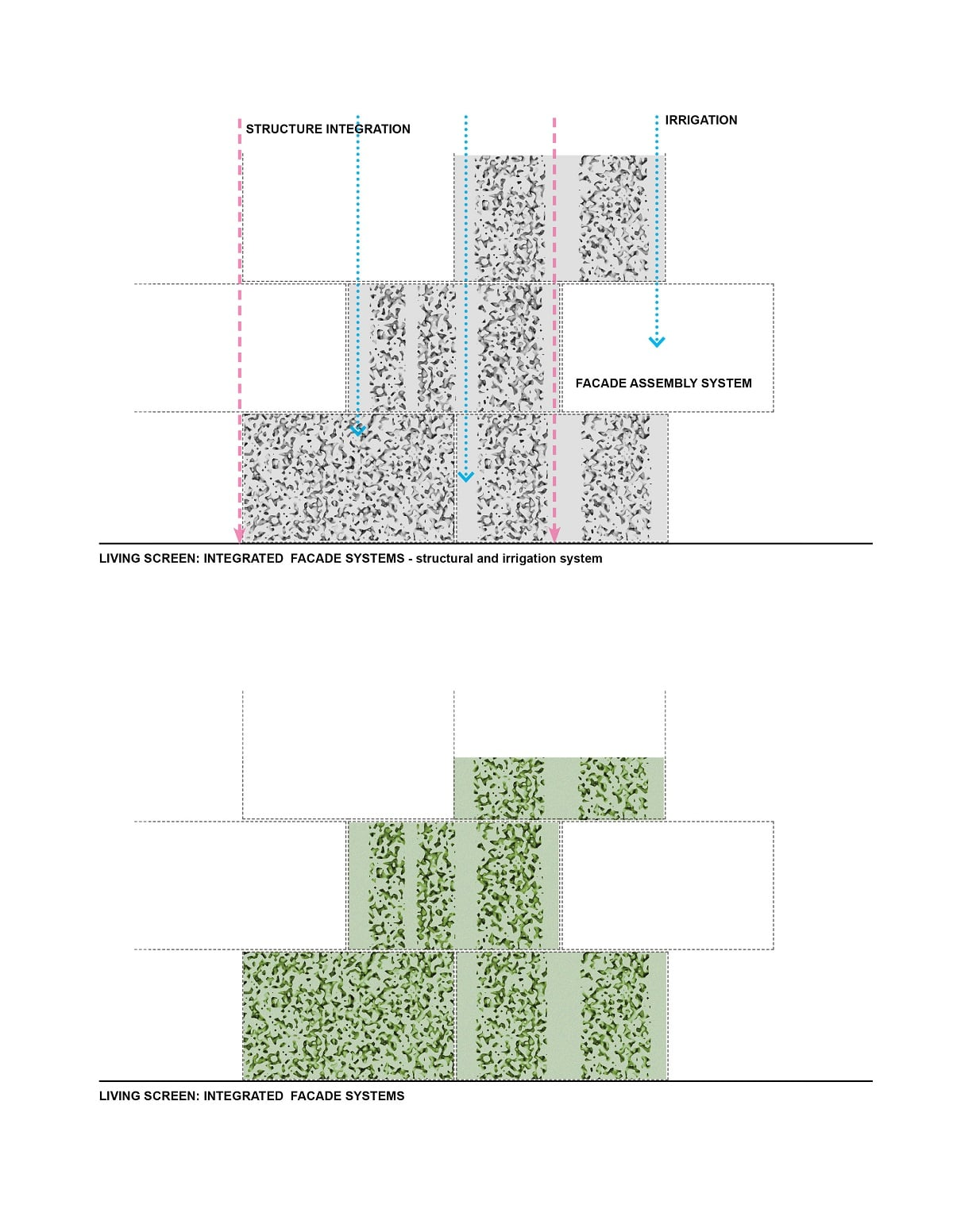 Paneling System of Biomorphic Living Screen from Inocente and Koliji - ECO URBAN Green Building