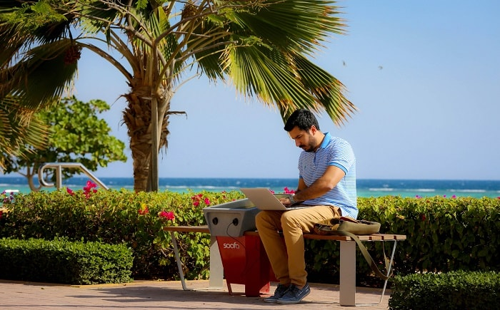 Soofa Bench in Dubai from Soofa and MIT