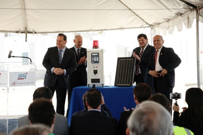 Inauguration of the World's Largest Lithium-Ion Battery in Escondido, USA