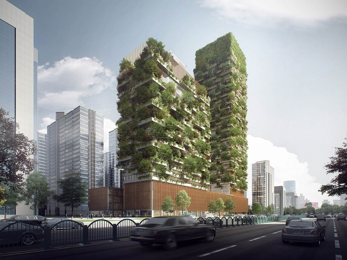 Vertical Forest by Stefano Boeri in Nanjing, China - eco urban green building