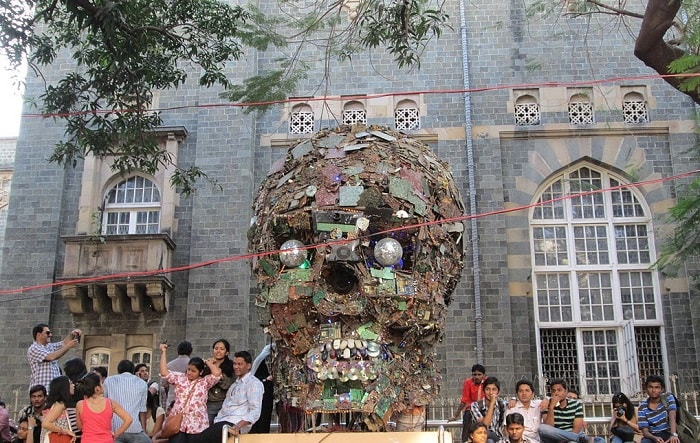 electronic waste in asia at Kala Ghoda Festival in India