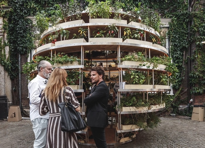 the growroom from space10 with architects Sine Lindholm and Mads-Ulrik-Husum