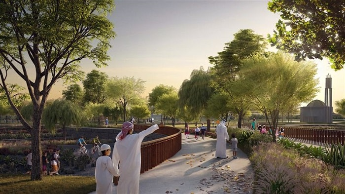 Walkway in Dubai's Largest Public Park