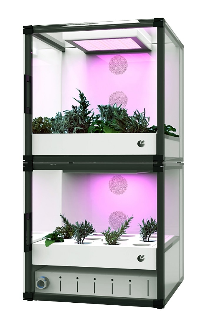 Automated Indoor Garden from CityCrop with two storeys