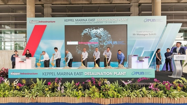 Desalination Plant in Singapore - Ground-breaking ceremony
