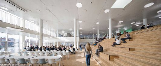 Copenhagen-International-School-Nordhavn-C-F-Moeller-dining hall