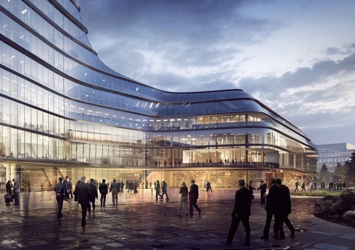MOL Campus by Foster & Partners in Budapest, Hungary