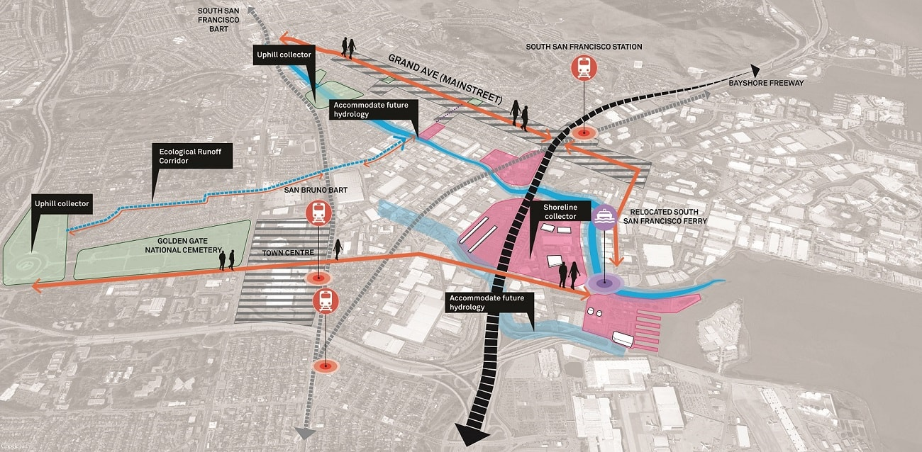 Resilient By Design - Map of San Francisco Bay Area Waterfront Hassel, MVRDV and more