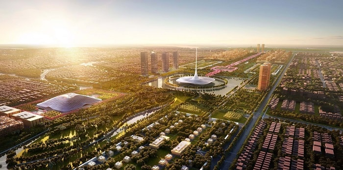 City from the scratch - Amaravati from Foster and Partners in India