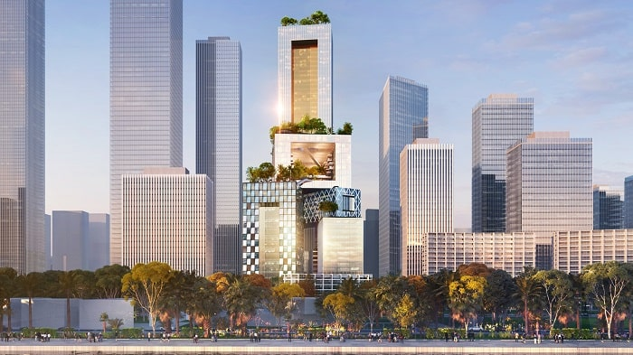 Skyline Shenzhen with Vanke 3D City designed by MVRDV - image Atchain